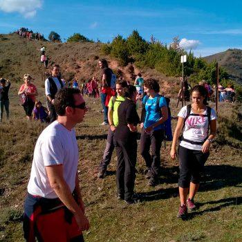 Llegada a lo alto del cerro Villaverde.